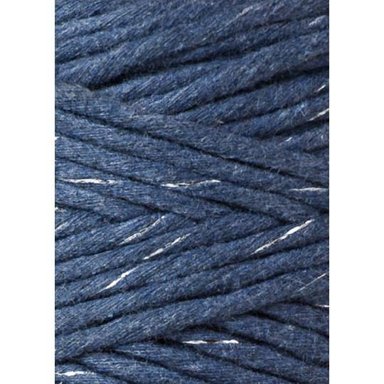 Silvery Jeans 3mm, 20m Bobbiny Macramé Cord - The Thread Shop
