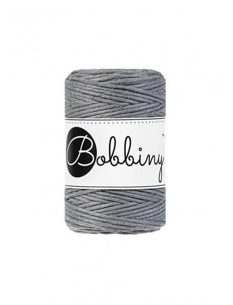 Steel 1.5mm, 100m Bobbiny Macramé Cord - The Thread Shop