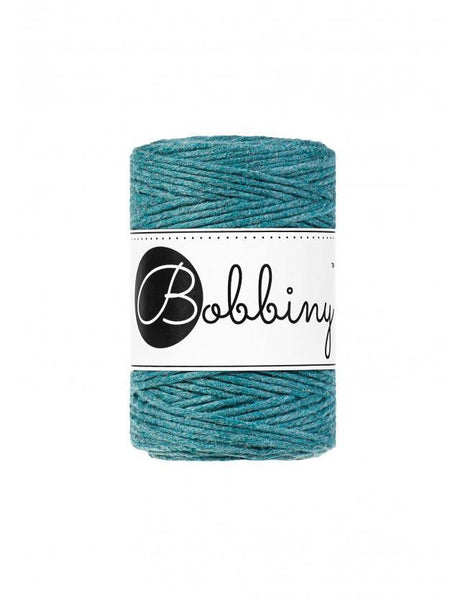 Teal 1.5mm, 100m Bobbiny Macramé Cord - The Thread Shop