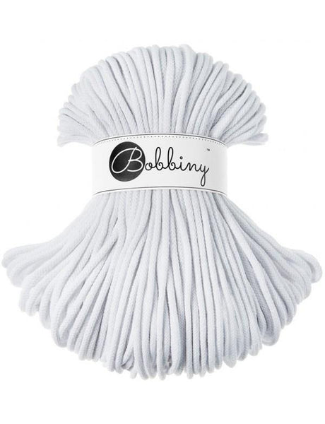 White 5mm, 100m Bobbiny Braided Cord - The Thread Shop