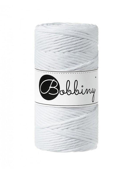 White 3mm, 100m Bobbiny Macramé Cord - The Thread Shop