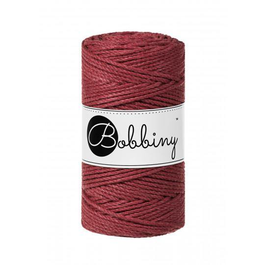 Wild Rose 3PLY 3mm, 100m Bobbiny Macramé Cord - The Thread Shop