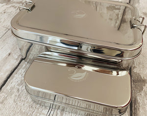Large Stainless Steel Lunchbox with Snack Box
