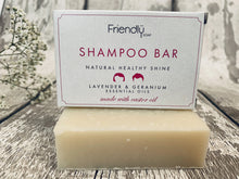 Load image into Gallery viewer, Lavender and Geranium Natural Shampoo Bar