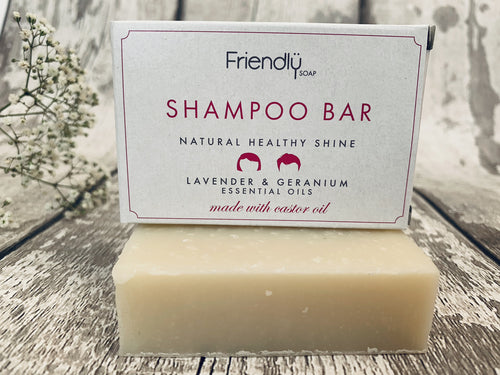 Lavender and Geranium Natural Shampoo Bar