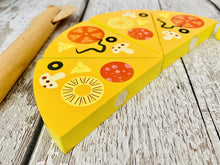 Load image into Gallery viewer, Wooden Pizza Box, Pizza and Cutter
