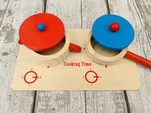 Load image into Gallery viewer, Wooden Cooking Set with Hob, Pans and Lids