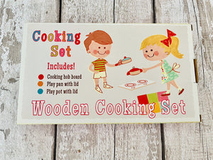 Wooden Cooking Set with Hob, Pans and Lids