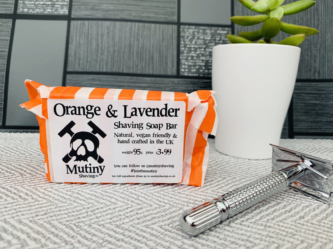 Orange and Lavender Natural Shaving Soap