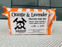 Load image into Gallery viewer, Orange and Lavender Natural Shaving Soap