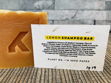 Load image into Gallery viewer, Lemon Peel Natural Shampoo Bar