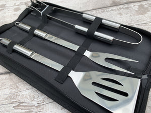 Stainless Steel BBQ Set with Carry Case