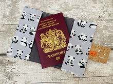 Load image into Gallery viewer, Panda Cork Leather Passport Holder