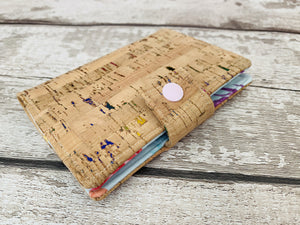 Unicorn Rainbow Cork Leather Passport Holder