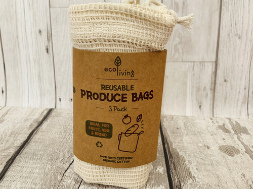 Organic and Fairtrade Produce and Bread Bags (3 pack)