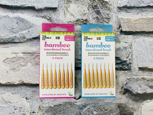Bamboo Interdental Brushes (8 pack)