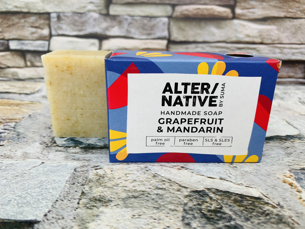 Grapefruit and Mandarin Natural Soap Bar