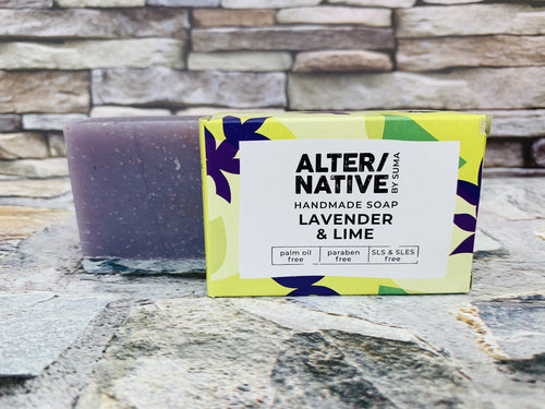 Lavender and Lime Natural Soap Bar