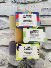 Load image into Gallery viewer, Bergamot and Green Tea Natural Soap Bar