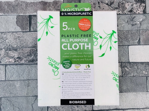 Plastic Free Multi Purpose Cloths (5pcs)