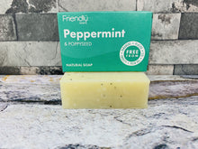 Load image into Gallery viewer, Peppermint and Poppy Bath Soap
