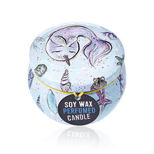 Load image into Gallery viewer, Art Tin Soy Wax Candle - Mystical Sea Creature