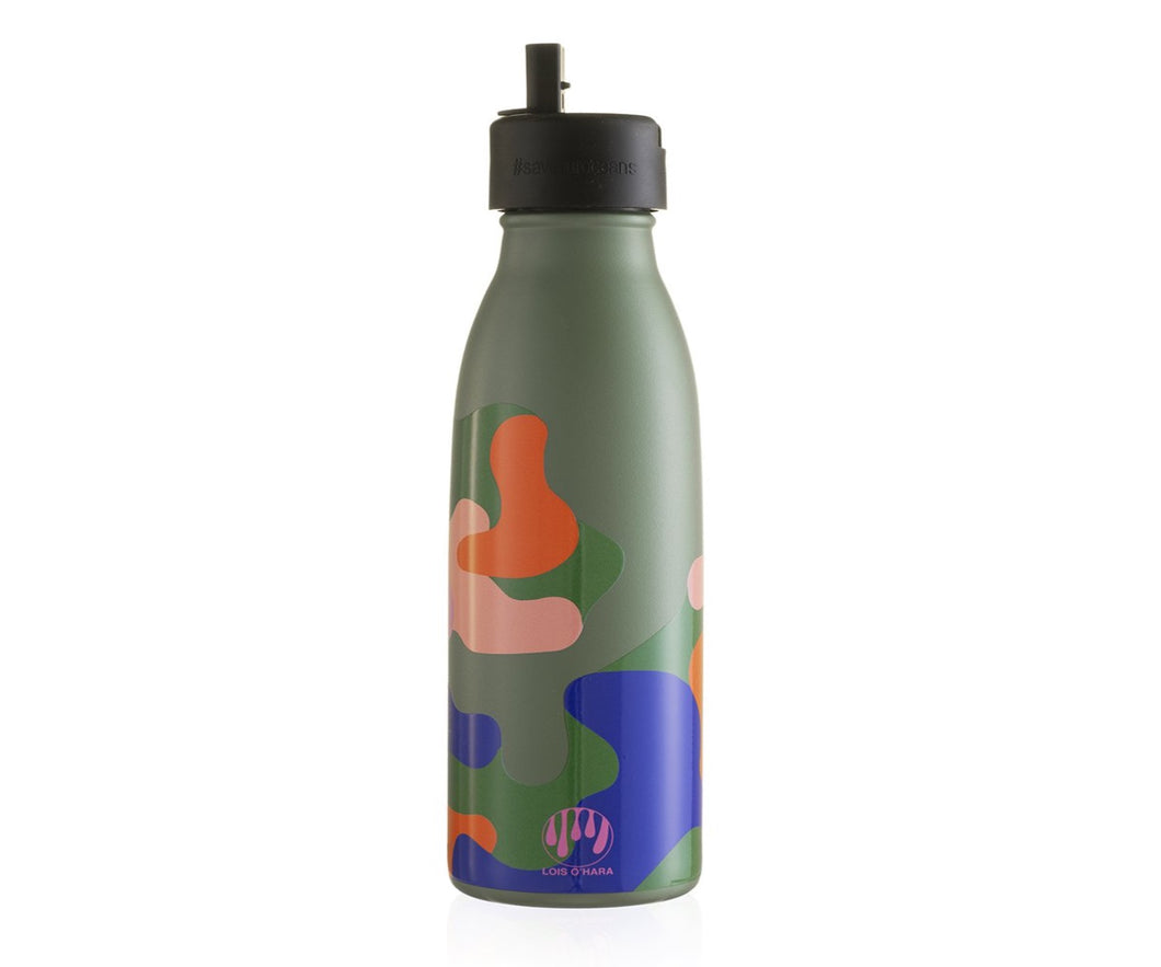 500ml Vacuum Insulated Thermal Bottle with Sports Cap - Nettle Green