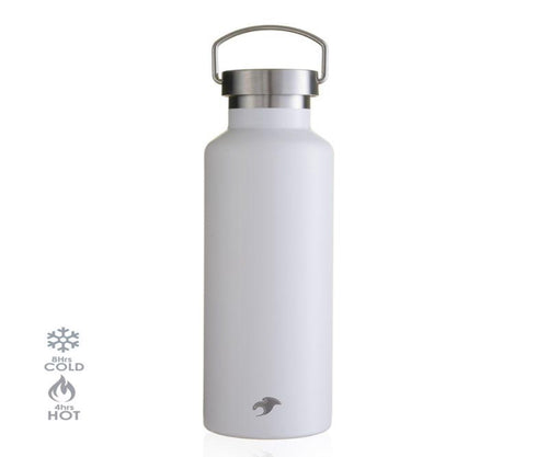 600ml Sanctuary White Thermal Insulated Vacuum Stainless Steel Bottle