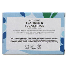 Load image into Gallery viewer, Tea Tree and Eucalyptus Natural Soap