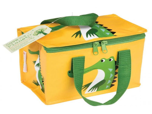 Recycled Foil Insulated Lunch Box Bag - Crocodile