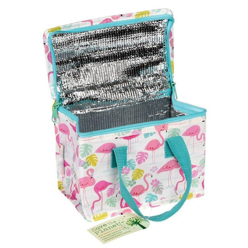 Recycled Foil Insulated Lunch bag - Flamingo