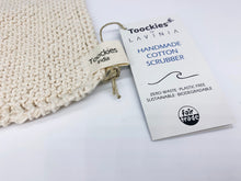 Load image into Gallery viewer, Handmade Organic Cotton Scrubber