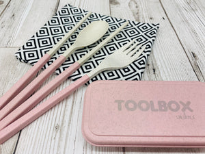 'Shlurple' Reusable Cutlery Toolbox - Pink