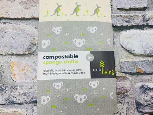 Wildlife Rescue Washable Sponge Cloths (2pcs) Home Compostable