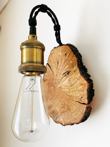 Handmade Reclaimed Cherry Wood Wall Light