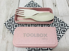 Load image into Gallery viewer, 'Shlurple' Reusable Cutlery Toolbox - Pink