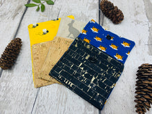 Load image into Gallery viewer, Cork Leather Coin Purse - Bumble Bee Print