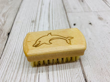 Load image into Gallery viewer, Mini Kids Natural Bamboo Nail Brush with Plant Based Bristles