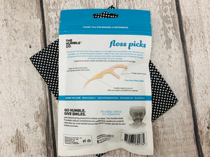 Cornstarch Floss Picks with Mint (50 pieces)