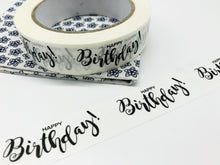 Load image into Gallery viewer, Happy Birthday Biodegradable Paper Tape (66 metres)