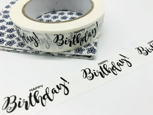 Happy Birthday Biodegradable Paper Tape (66 metres)