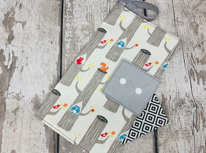Nappy/Wipe Storage Pouch - Woodland Animal Design