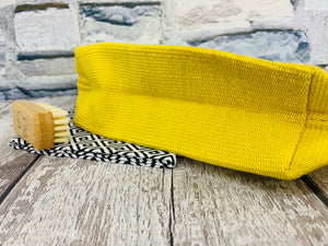Medium Cotton Cosmetic / Travel Bag - Sunflower Yellow