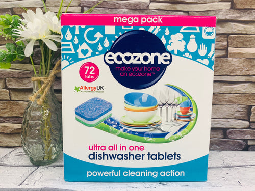 Ultra All-in-One Dishwasher Tablets (72 Tablets)