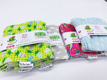 Load image into Gallery viewer, Reusable Cotton Baby Wipes with Bamboo Backing (x5)