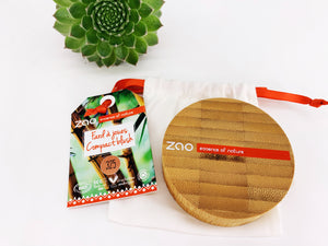 Zao Blush Compact with Refillable Bamboo Case Golden Coral (325)