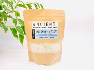 Clarity - Rosemary and Clary Sage Himalyan Bath Salts