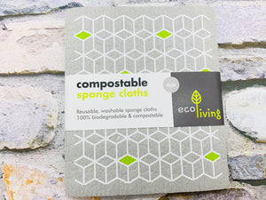 Washable Sponge Cloths (2pcs) Home Compostable