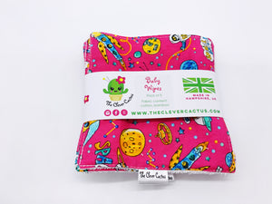 Reusable Cotton Baby Wipes with Bamboo Backing (x5)