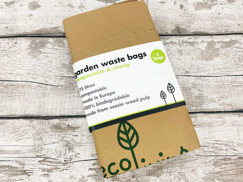 Garden Waste Bags - Compostable and Strong (x 5 bags)